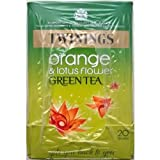Twinings Orange & Lotus Flower Green Tea - 4 x 20 Tea Bags