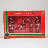 【American Diorama 】アメリカンジオラマ【1:24 Christmas Girls (Set of 4)】フィギュア/クリスマスサンタガールセット