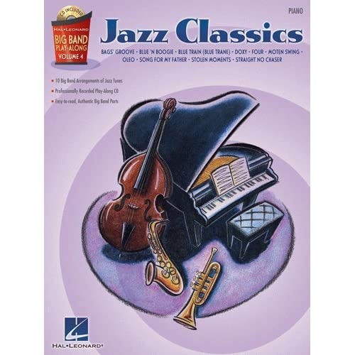 Jazz Classics   Piano   Big Band Play Along Volume 4   Bk