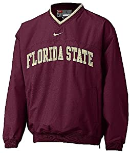 Florida State Seminoles Garnet V-Neck College Windshirt By Nike Team Sports by Nike