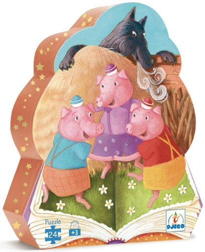 Picture of Djeco The Three Little Pigs Silhouette Puzzle by Djeco (B001G90RO8) (Floor Puzzles)