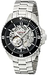 Rotary Mens agb90078/a/04 Analog Display Swiss Automatic Silver Watch