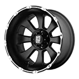 "KMC Wheels XD Series Armour XD7997 Matte Black Machined Wheel (22x14""/8x165.1mm)"