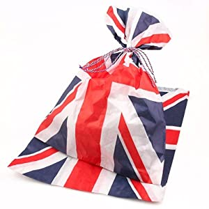 """100 x Union Jack Candy / Sweet Paper Party Bags - 5"""" x 7"""""""