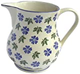 Brixton Pottery 1-Piece Stoneware 350 ml Geranium Medium Jug, Blue