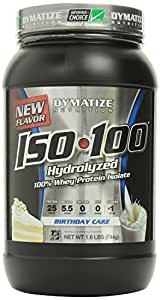 Dymatize ISO-100 Hydrolyzed 100% Whey Protein Isolate - Birthday Cake 1.6 LBS