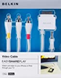 Belkin F8Z361ea06 Câble audio / vidéo avec connecteur pour iPhone / iPod