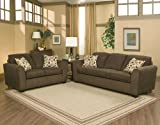 3pc Traditional Modern Fabric Sleeper Sofa Set, CO-EDG-S3