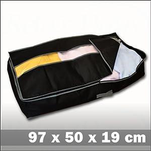 Bolsa cajón debajo de la cama - Negro - 97 x 50 x 19 cm   Comentarios y más información