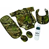 Rivers Edge Products 5-Piece Real Tree APG Camouflage Baby Gift Set for The Littlest of Outdoor Lovers