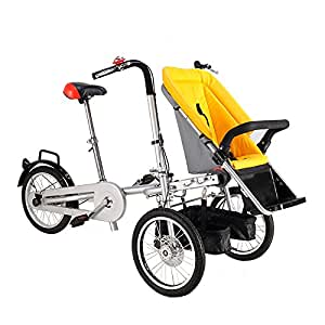 Carrinho Pushchair-Bicycle Baby Strollers 3 in 1 (YELLOW) : Baby