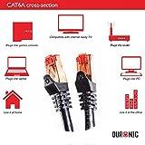 Duronic-CAT6a-1m-Schwarz-Ethernet-FTP-LAN-Netzwerkkabel-Doppel-geschirmt-500-MHZ-Patchkabel-fr-Switch-Router-Modem-Patch