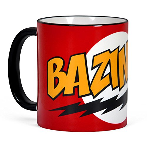 Big Bang Theory - Tazza con motivo Bazinga di Sheldon - Ceramica - Rosso