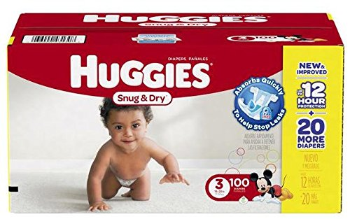 Huggies Snug & Dry Diapers Size 3 - 100 CT (Huggies Size 3 Diapers compare prices)