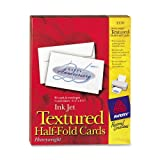 Avery Textured Half-Fold Greeting Cards for Inkjet Printers, Uncoated, 5.5 x 8.5 Inches, White, Box of 30 (03378...