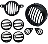 #8: AllExtreme Heavy weight Headlight Grill Complete , Die casted to ensure Ultra Finishing, Set of 8 Pieces- Royal Enfield Classic 350/ 500