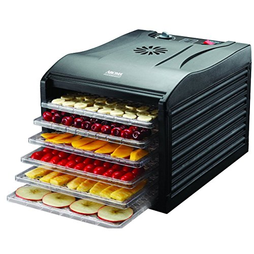 Brand New, Aroma Professional 6 Tray Black Extra Large Electric Food Dehydrator (Aroma Electric Slicer compare prices)