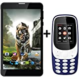 I KALL N5(Black) (2+16GB) Dual Sim 4G Calling Volte Supported Tablet Special Combo With K3310(Dark Blue) Battery Saver Option And Money Detector Light, Torch Light, Dual Sim