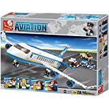 Sluban Skybus Passenger Plane Aircraft Airport Aviation Kids Building Bricks