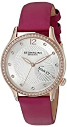 Stuhrling Original Women's Quartz Stainless Steel and Pink Leather Dress Watch (Model: 801.02)