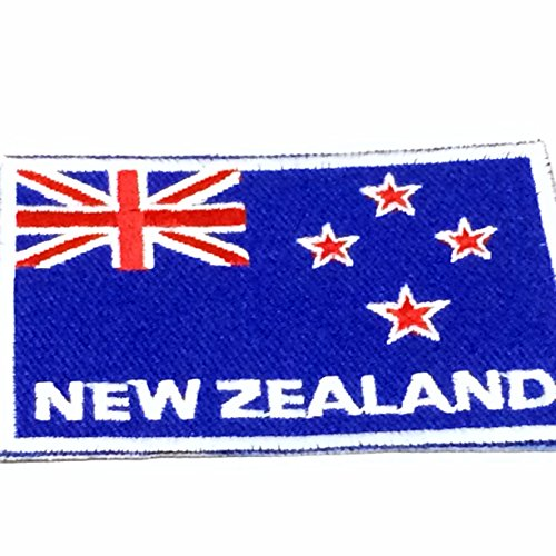 Nation Country Flags Patches New Zealand Emblem Logo 2 x 2.8 Inches Sew On Embroidered Patches National Decorative Applique Embroidery Designs For t shirt Jersey Hoodie Hat Backpacks etc