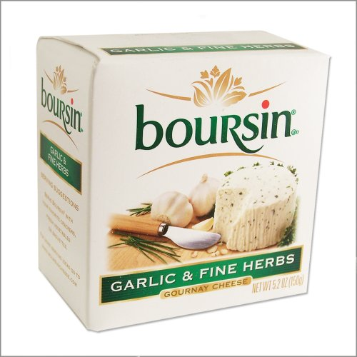 Boursin Cheese with Garlic and Fine Herbs - Gournay Cheese - 5.2oz - (Pack of 2) (Cheese Garlic compare prices)