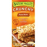 Nature Valley Crunchy Peanut Butter Granola Bar, 2 Bar Pouches 1.5oz, 30 Count,