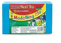 Kores Kool Clay -160 grams, Pack of 12 Shades, 24 Packs