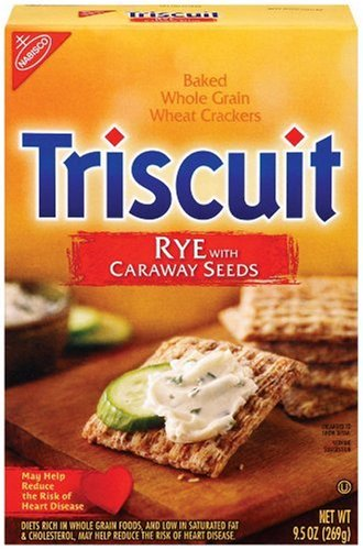 Triscuits, Rye  Caraway Seeds, 9.5-Ounce Boxes