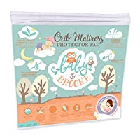 Organic Crib Mattress Cover Pad - Waterproof and Breathable Bamboo Baby Mattress Pad - Fits ALL Standard Crib Sizes from Baby and Brooke