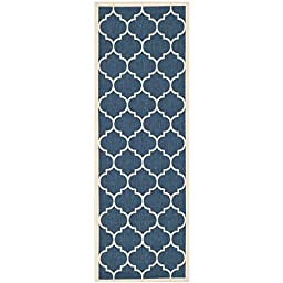 Safavieh Courtyard Collection CY6914-268 Navy and Beige Indoor/ Outdoor Runner, 2 feet 3 inches by 8 feet (2\'3\