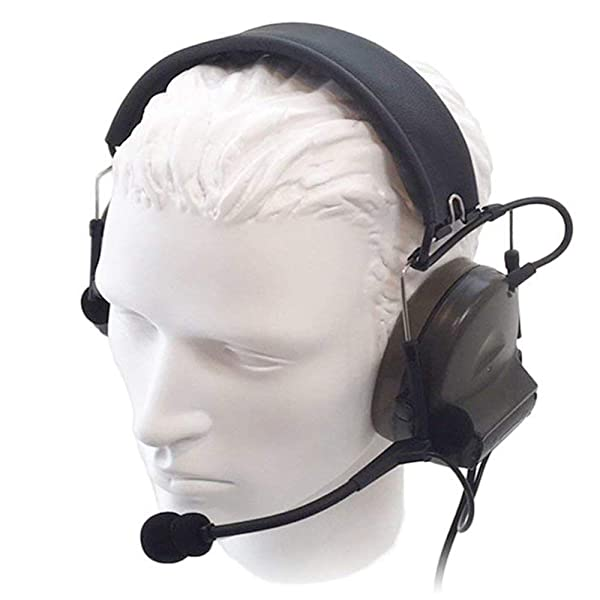 ?Z-TAC Official Store? Z-Tactical Comtac II Headset Style COMTAC II Headset Ver2.0 Style Noise Canceling Sound Collection Soundproof Tactical Headset with Mic G:1 Specifications Non-Mil-Spec Z041 (Color: Olive green)