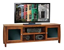 "Hot Sale Legends Furniture Curve 76"" Spiced Rum Brown Entertainment TV Console"