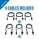 Sabrent [6-Pack] 22AWG Premium Micro USB Cables (X3-3ft + X3-1ft) High Speed USB 2.0 A Male to Micro B Sync and Charge Cables [Black] (CB-U631)