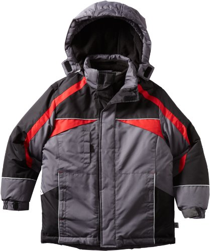 Rothschild Boys 8-20 Parka with Vestie, Charcoal, X-Large