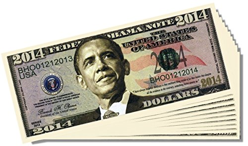 Barack Obama 2014 Federal Reserve Note - 10 Count with Bonus Clear Protector & Christopher Columbus Bill