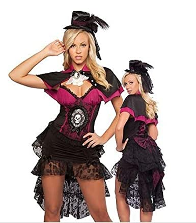 Sexy Womans Gothic Vampire Fancy Dress Outfit