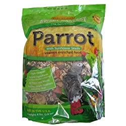 Kaylor-made Sweet Harvest Vitamin Enriched Parrot with Sunflower Seeds Bird Food 4 lb from Kaylor