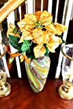 Gold Poinsettia Branch Tree Flower Christmas Decoration 1322