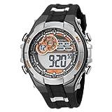 Armitron Men's 408188GMG Chronograph Gray and Black Digital Sport Watch