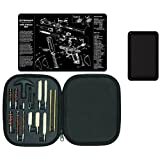 Ultimate Arms Gear Gunsmith Gun Mat S&W Smith & Wesson M&P + Professional Cleaning Tube Chamber Barrel Care Pistol Cleaning Kit Case for .22 / .357 / .38 / 9mm / .44 / .45 Tools + Magnetic Tray