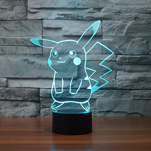 Pokemon Pikachu 3D Illusion LED Night Light