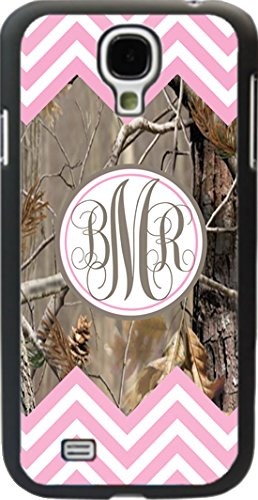 Country Girl Light Pink 2 Chevron and Monogram Camo Buck Case For Samsung Galaxy S4