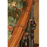 Decorative Garland Ties - 6 Pack -16 inch - Brown ~ Haute Decor