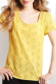 Pure Cotton Broderie Embroidered Top [T43-2175-S]