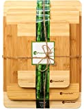 Extra Thick Bamboo Cutting Board Set - Thick Strong Bamboo Wood Cutting Board With Beautiful White Edge by Premium Bamboo®