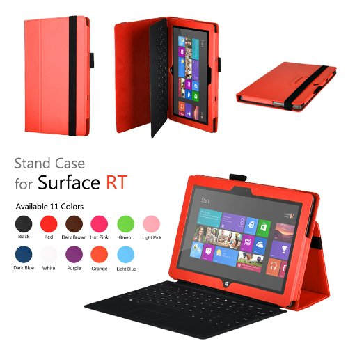 Elsse (TM) Premium Folio Case with Stand for Microsoft Surface Windows 8 RT (Does not fit Windows 8 Pro Version) - (Surface RT, Orange)