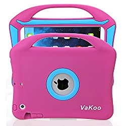 iPad Mini Case, VAKOO® iPad Mini 3 2 1 Case Kids Proof Shockproof Drop Proof Soft Silicone Portable Light Weight Handle Case Cover for iPad Mini 3, iPad Mini Retina Display and iPad Mini (Pink/Blue)