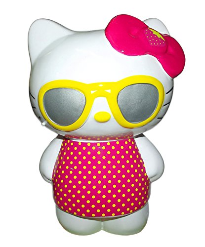 Hello Kitty Standing Wearing Sunglasses Ceramic Coin Bank - 1