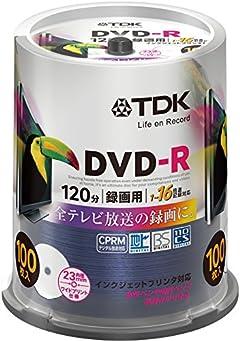 TDK 録画用DVD-R デジタル放送録画対応(CPRM) 1-16倍速 DR120DPWC100PU-AM